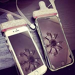 Lady®elegant / caja del teléfono de lujo para el iphone 6 más / 6s más (5,5 pulgadas), decorado con diamantes de camelia y el parachoques ( Color : Amarillo )