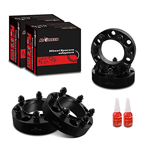 "RICHEER Wheel Spacers 6x5.5 for Toyota Tacoma 4Runner/Tundra/FJ Cruiser/Isuzu/Lexus,1.25"" Forged Spacer 6x139.7, 12x1.5 Studs& 106mm Center Bore"