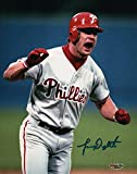 Lenny Dykstra Signed Autographed 8X10 Photo Phillies Road Close-Up Celebration