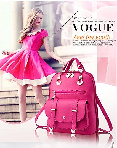 Borse Sacco Donne Capacità Nuova Moda Rossa Bianco Zaino Borsa Casuali Di 7 Coreana Marea colore Semplice Corsa College Rosa Yunguang Colori Ampia EOwqdA7E