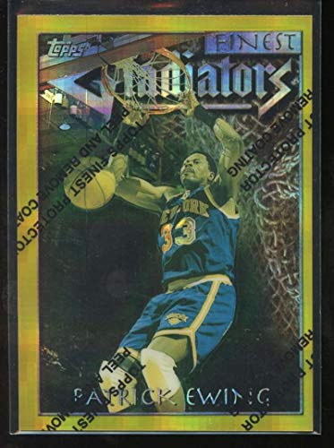 Patrick Ewing Gladiators Atomic Refractor 1996-97 Topps Finest Rare Gold Knicks