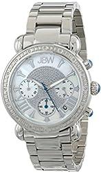 JBW Women's JB-6210-D Victory Pearl Diamond Chronograph Watch