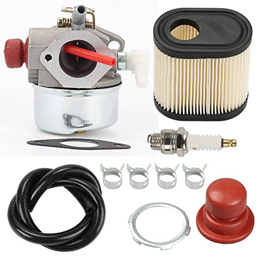 Hilom 640271 640303 640350 Carburetor with 36905 Air Filter Spark Plug & Gasket for TECUMSEH LEV100 LEV105 LEV120 LV195EA LV195XA Toro Recycler Lawnmowers 20016 20017 20018 6 6.25 6.5 6.75 HP Engines