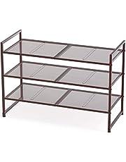 SimpleHouseware 3-Tier Stackable Shoe Shelves Storage Utility Rack