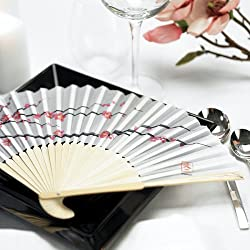 Cherry Blossom Hand Fans, Package of 6