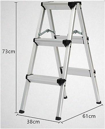 LPZ Escalera de Tijera Escalera Plegable Escalera telescópica Escalera en Espiga de Aluminio Escalera Recta Escalera multifunción portátil Dos Tres Escalera de Cuatro escalones: Amazon.es: Hogar