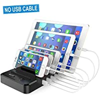 Hicity Cell Phone 40W/8A 5-Port USB Charging Station Dock