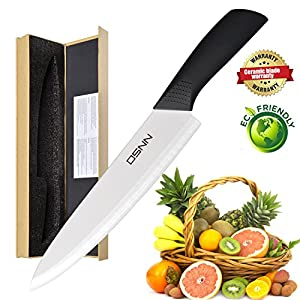 Kitchen Chef Knife 8 inch Ceramic Knife DSNN Slicing knife cutting knife, dicing knife Chefs Cooking tool Kitchen Utensial with Knife Chef Ceramic Knife 8 INCH Kitchen Black Knife in Gift Box