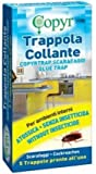 TRAPPOLA COLLANTE x SCARAFAGGI BLATTE ROSSI NERI 5 trappole