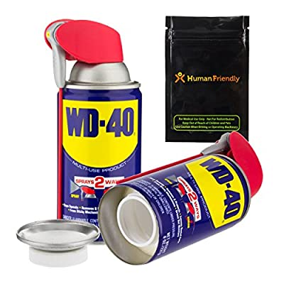 WD-40 Diversion Safe Stash Can w HumanFriendly Smell-Proof Bag by HumanFriendly
