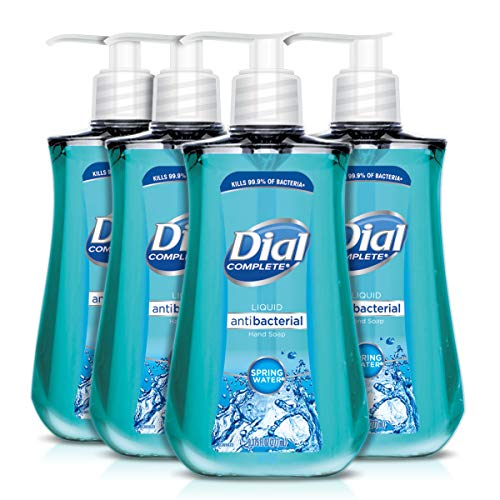 Dial Antibacterial Liquid Hand Soap, Spring Water, 9.375 Ounce (Count of 4) (Soap Antibacterial)