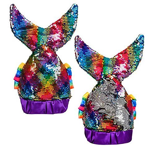 DollarItemDirect Rainbow FLIP Sequin Mermaid Tail HAT, Case of 24