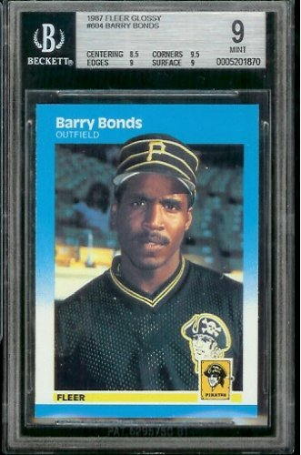 (1987 Fleer Glossy Barry Bonds Rookie Card Baseball Rookie Card #604 Barry Bonds)