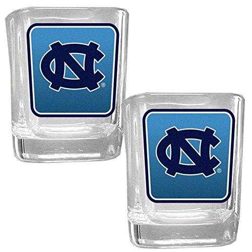 NCAA North Carolina Tar Heels Square Glass Shot Glass Set