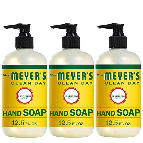 Mrs. Meyer's Clean Day Liquid Hand Soap, Honeysuckle Scent, 12.5 fl oz (3 ct) - Three Olives Bubble