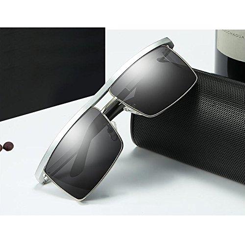 De Polarizados YQQ Gafas Gafas Gafas Deporte Hombre De Sol Cuadradas Reflejante Sol Conducción Gafas Gafas De 3 Color 1 Anti De HD Vidrios zP0zxw8