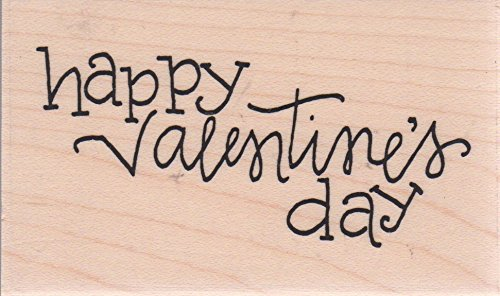 Happy Valentine's Day Wood Mounted Rubber Stamp (D19708) ()