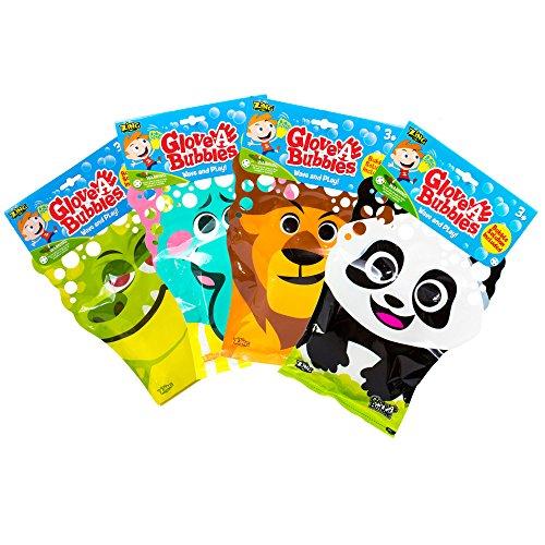 Glove-A-Bubbles 4 Pack: 1 Elephant, 1 Lion,1 Panda, 1 Alligator by Glove-A-Bubbles