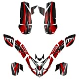 Polaris Predator 500 ATV Graphics Decal Kit By Allmotorgraphics No3333-red fits all years