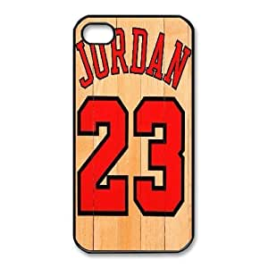 iphone4 4s cell phone case Black Jordan 23 phone cases&Holiday Gift P6688996