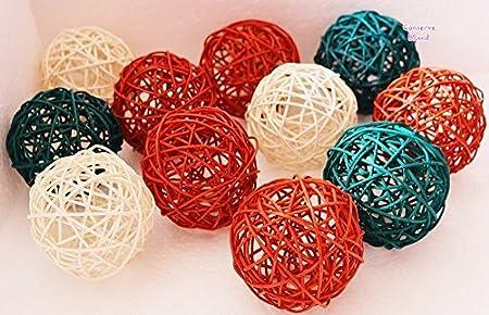 Decorative Spheres White Green Orange Rattan Mediumsized Vase Awesome Decorative Balls For Bowls Green