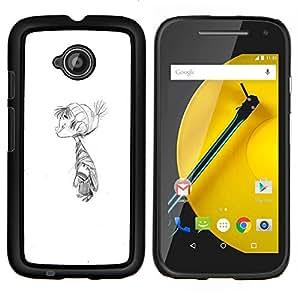LECELL--Funda protectora / Cubierta / Piel For Motorola Moto E2 E2nd Gen -- Kid invierno lápiz de dibujo para niños'S --