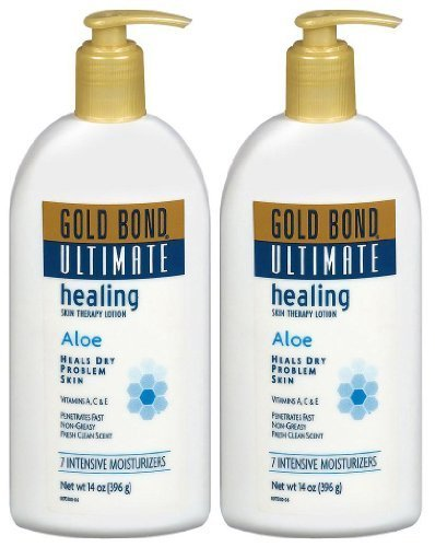 Gold Bond 4 Piece Ultimate Healing Skin Therapy Lotion Aloe, 1 Ounce - Intensive Nurturing Care