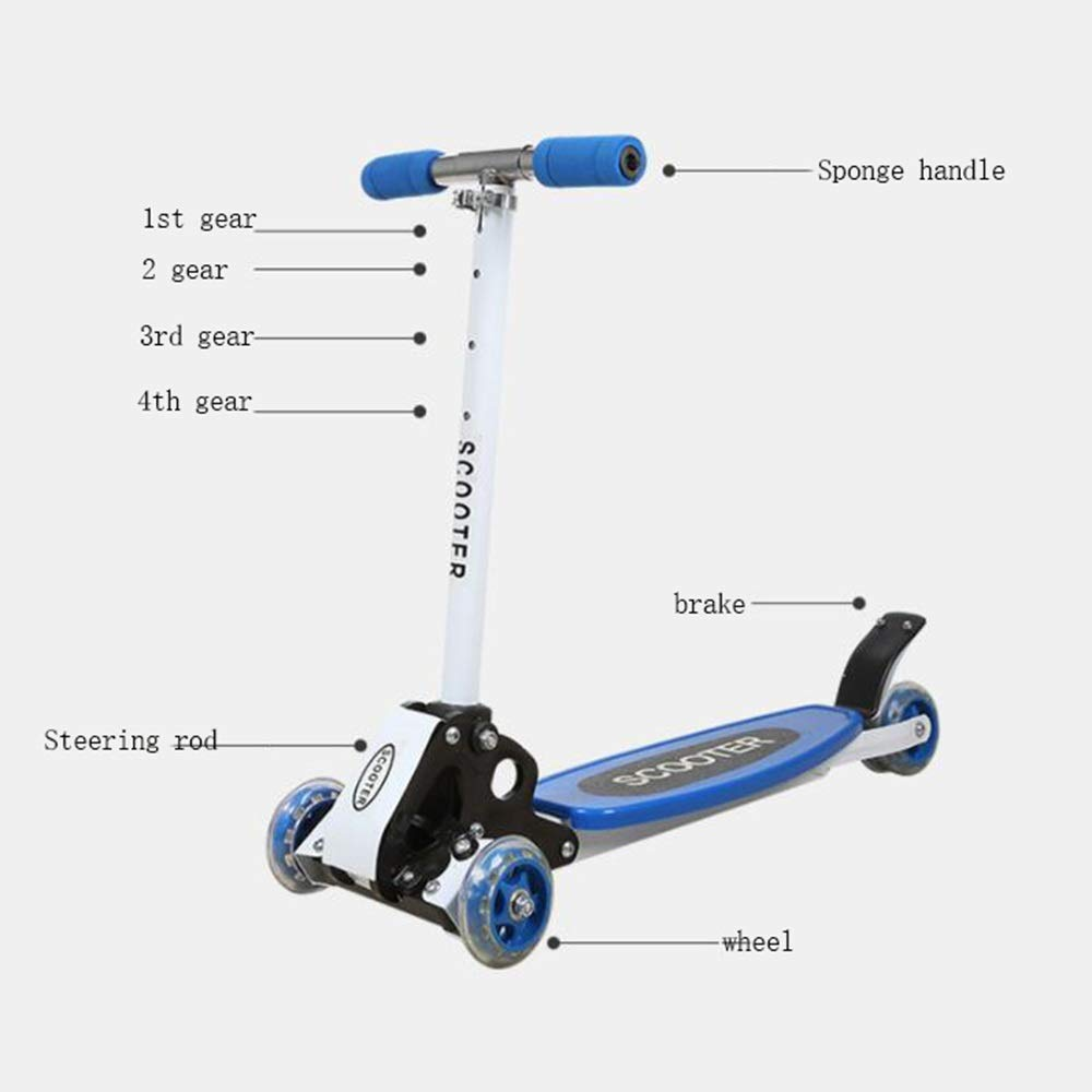 Amazon.com : QRFDIAN, Micro Mini Deluxe Kick Scooter Childrens Scooter/Three-Wheeled Baby Swing Scooter/Entry Childrens Scooter/Four-Wheel with Flash, ...