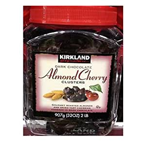 Kirkland Dark Chocolate Almond Cherry Clusters, 2 Lb Ea 2 Packs