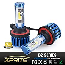 Xprite B2 Series CREE COB LED Headlight Conversion Kit with 6000K White, 8000K Blue Sleeves - 120W 10000lm - H13 9008