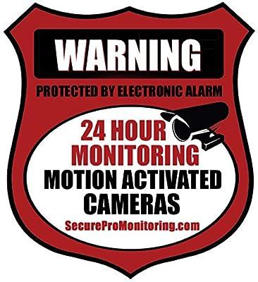 """6 """"REAL"""" Red Burglar Alarm Video Surveillance Security Decals Door & Window Stickers"""