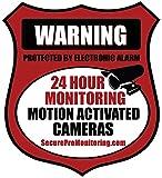 6 'REAL' Red Burglar Alarm Video Surveillance Security Decals Door & Window Stickers