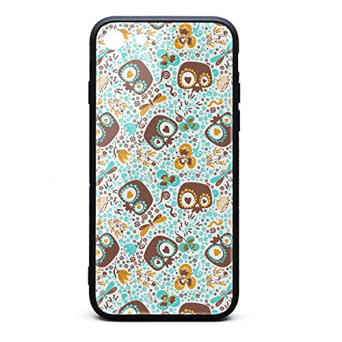 Cute Skull Halloween I-Phone 7/8 Case Ultra-Thin Back Case Shock-Absorption Bumper Cover Thinnest for I-Phone 7/8 ()