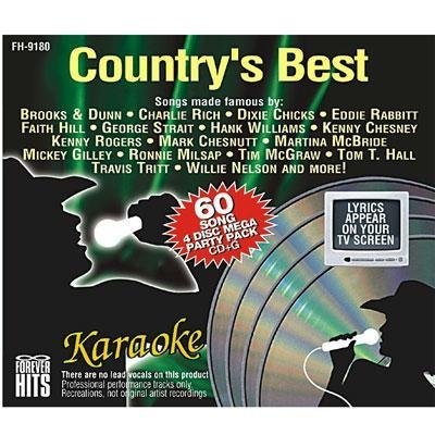 Hits Karaoke Forever - Forever Hits 9180 Country's Best (4 Discs 60 Songs)