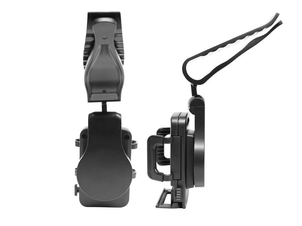 Compatible for Apple iPhone Xs//Xs Max//Xr//X//8//7//6 Samsung Note 9//8//5 Galaxy S9//S8//S7//S6 LG Q7+//Stylo 4//V30//V20//G6//G5//V35 ThinQ Moto Z3 etc PH700 Cellet Sun Visor Car Phone Holder Universal Car Mount Clip