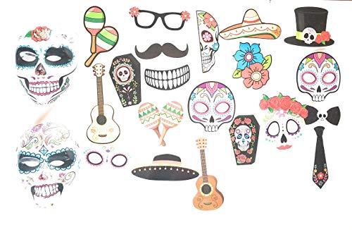 Sugar Skull Mexican Photo Props & Masks Cinco
