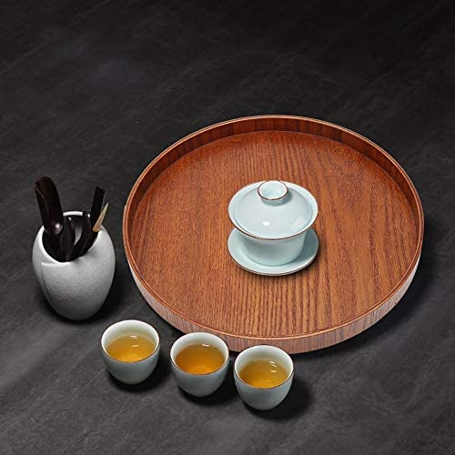 Theeblad ronde houten koffieplaten voor restaurant voor waterbekerBrown 27cm2cm