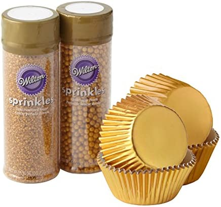 Wilton Gold Cupcake Decorating 4 Piece product image