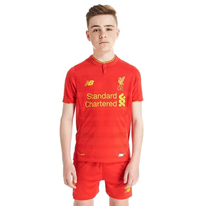 6b3164e87 Liverpool FC 16 17 Kids Home S S Football Shirt - High Risk Red ...