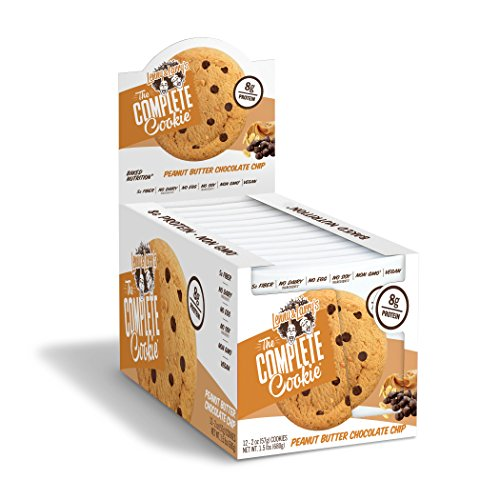 Lenny & Larry's The Complete Cookie, Peanut Butter Chocolate Chip, 2 Ounce Cookies - 12 Count, Soft Baked, Vegan and Non GMO Protein Cookies ()