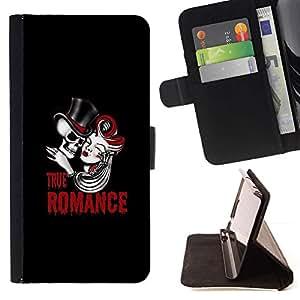 Momo Phone Case / Flip Funda de Cuero Case Cover - Verdadero cráneo Romance;;;;;;;; - Samsung ALPHA G850