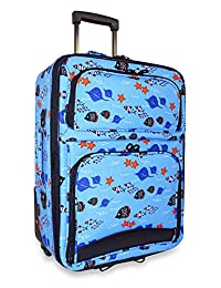 Ever Moda Expandable Carry On Rolling Luggage, Aquarium Print