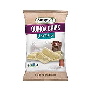 Simply7 Gluten Free Quinoa Chips, Sea Salt/Vinegar, 3.5 Ounce (Pack of 12)