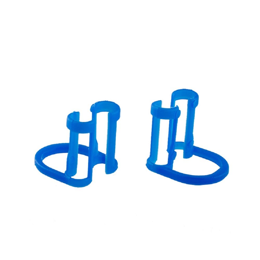Pevor 100pcs Cotton Roll Holder Disposable Clip For Dental Clinic