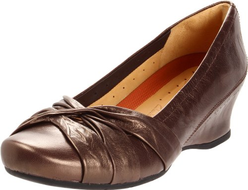 Clarks Womens Un.marked Pump In Pelle Marrone Metallizzata
