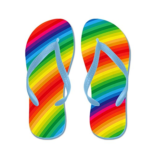 73f96650effc free shipping Lplpol Rainbow Striped Pattern And Pilgrim Flip Flops Flip  Flops for Kids and Adult