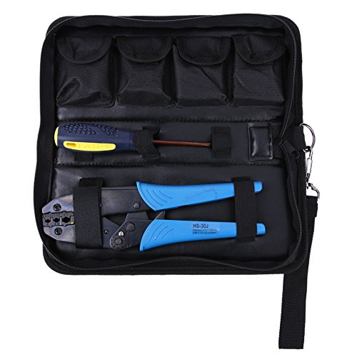 5 Dies Ratchet Crimper Crimping Tool Kit Bootlace Wire Crimper Hand Plier Crimping Combination Tools Kit Tools 1-