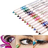 Best Eyeliners - Waterproof 12 PCS Ultra Bright Colors Durable Eyeliner Review