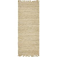 Unique Loom Braided Jute Collection Natural 3 x 6 Runner Area Rug (2 6 x 6)