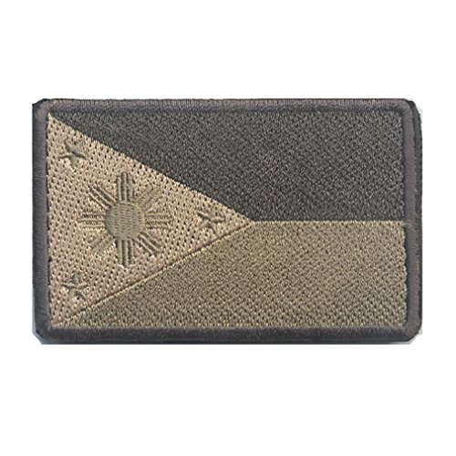 (Philippines Flag Patch Embroidered Military Tactical Flag Patches)